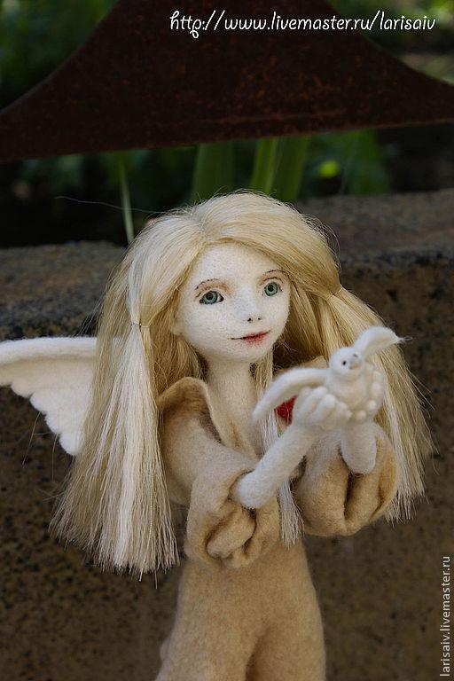 Коллекционные куклы ручной работы. Ярмарка Мастеров - ручная работа. Купить Ангел мира. Handmade. Белый, синтетические волосы