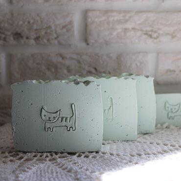 Косметика ручной работы. Ярмарка Мастеров - ручная работа Кошачья мята(на козьем молоке) Натуральное мыло. Handmade.