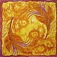 Fantasy Painting handmade. Livemaster - handmade. Buy Batik 'the Firebird'.Batik, fire, silk