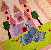 """Для дома и интерьера ручной работы. Ярмарка Мастеров - ручная работа Детское одеяло """"Принцесса в голубом"""". Handmade."""