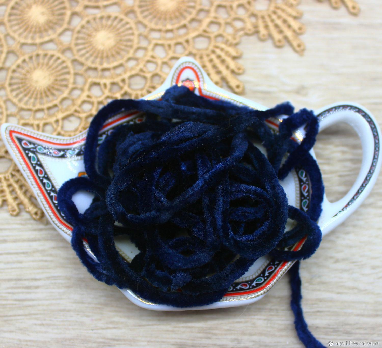 Синель 5 мм полиэстер Южная ночь 1 метр, Аксессуары для вышивки, Соликамск,  Фото №1