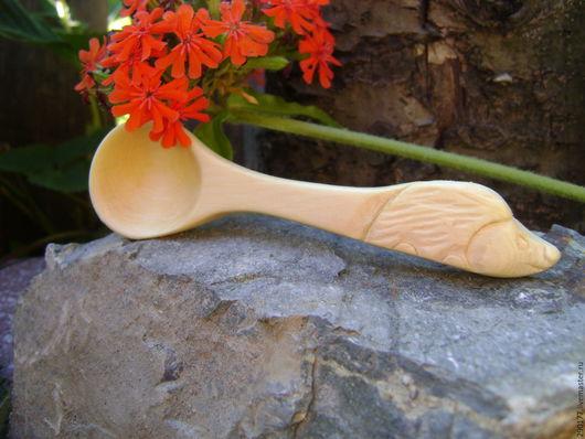 """Ложки ручной работы. Ярмарка Мастеров - ручная работа. Купить Ложка малая  """"Еж Ежович"""". Handmade. Желтый, для кухни, подарок"""