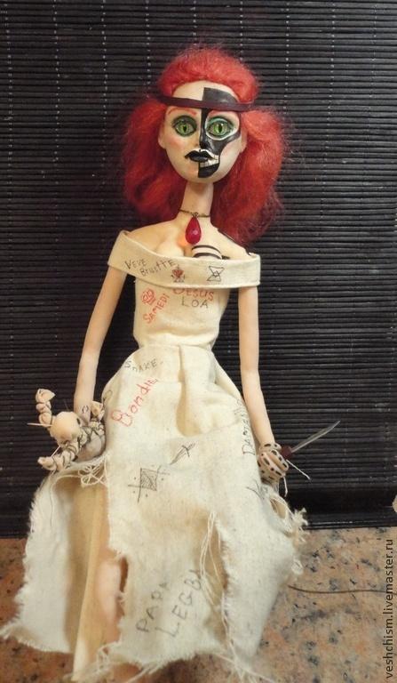 Коллекционные куклы ручной работы. Ярмарка Мастеров - ручная работа. Купить Мама Бриджит. Королева Вуду.. Handmade. Разноцветный, текстиль