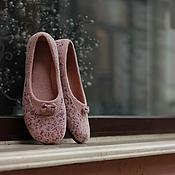 """Обувь ручной работы. Ярмарка Мастеров - ручная работа """"Poem""""  туфельки балетки валяные.. Handmade."""