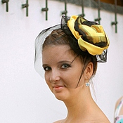 """Аксессуары ручной работы. Ярмарка Мастеров - ручная работа Вечерняя шляпка - """"Необычная роза"""". Handmade."""