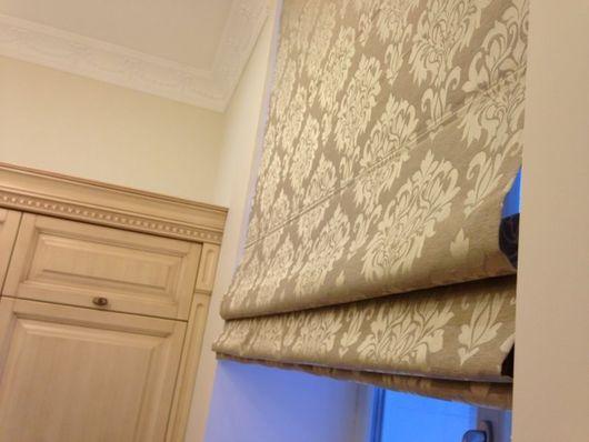 """Текстиль, ковры ручной работы. Ярмарка Мастеров - ручная работа. Купить Римская штора """"Дамаск"""". Handmade. Серый, пошив штор"""