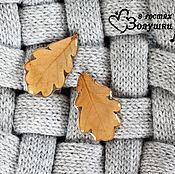 """Украшения ручной работы. Ярмарка Мастеров - ручная работа Серьги """"Настоящие дубовые листья"""". Handmade."""