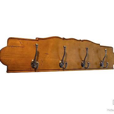 Мебель ручной работы. Ярмарка Мастеров - ручная работа Вешалка настенная винтажная в стиле прованс из массива. Handmade.