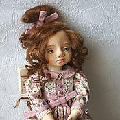 Куклы и пупсы ручной работы. Ярмарка Мастеров - ручная работа Кукла в платье цвета лаванды  в ретро стиле. Handmade.