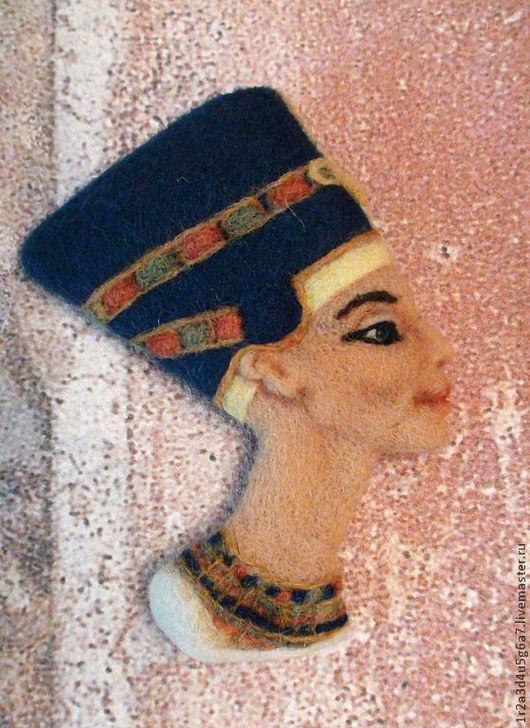 Броши ручной работы. Ярмарка Мастеров - ручная работа. Купить Нефертити - брошь. Handmade. Нефертити, брошь из войлока, подарок девушке