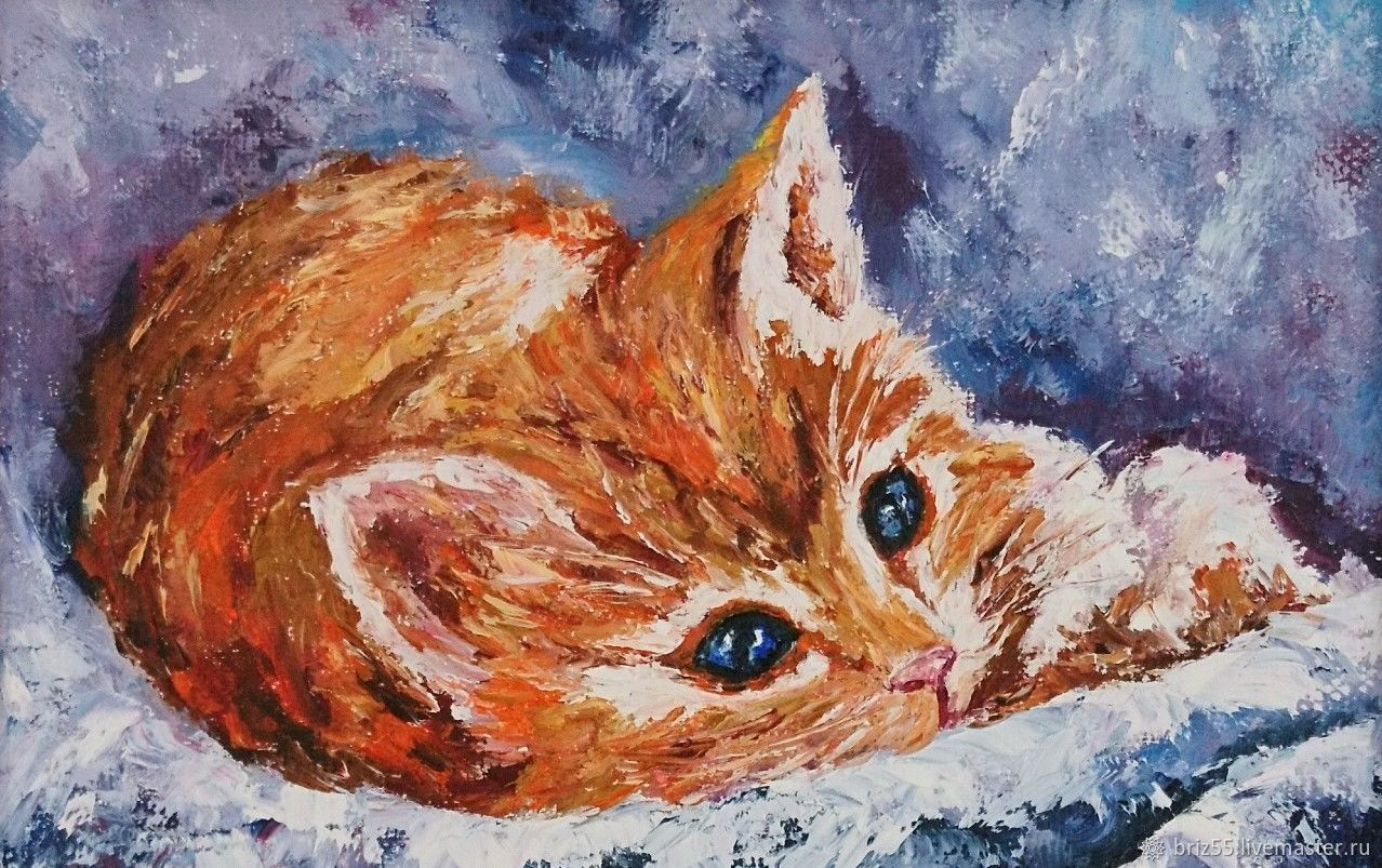 Oil painting ginger, Pictures, Zelenograd,  Фото №1