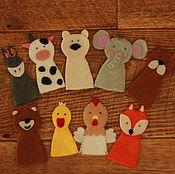 """Куклы и игрушки ручной работы. Ярмарка Мастеров - ручная работа Набор """"Пальчиковый зоопарк"""". Handmade."""