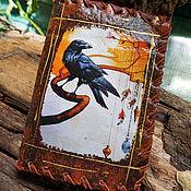 Канцелярские товары handmade. Livemaster - original item Passport cover Raven 3. Handmade.