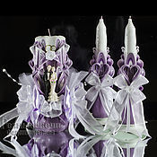 """Свадебные свечи ручной работы. Ярмарка Мастеров - ручная работа Резные свадебные свечи ручной работы """" Инесса"""". Handmade."""