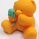 Мыло ручной работы. Мыло Мишка с игрушкой. Юлия (dushamila). Интернет-магазин Ярмарка Мастеров. Мишка, мишутка, мыло в москве