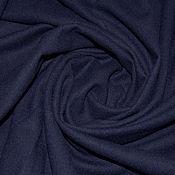 Ткани ручной работы. Ярмарка Мастеров - ручная работа Костюмная ткань,цвет морской синий. Цена 500р.-м.. Handmade.