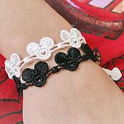 Украшения handmade. Livemaster - original item bracelets embroidery contradictory mickey 2pcs set.. Handmade.