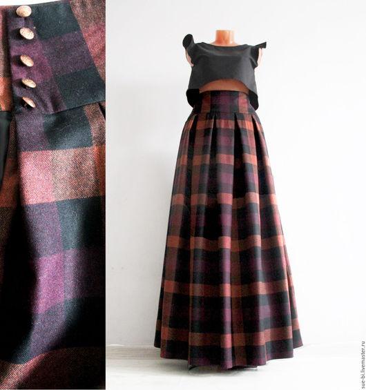 длинная юбка из шерсти в клетку на зиму юбка теплая зимняя юбка юбка в пол юбка из шерсти юбка в клетку юбка длинная в клетку зимняя юбка в пол теплая юбка в пол клетчатая юбка шерсть в клетку шерсть