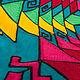 """Блузки ручной работы. Заказать Этническая блуза """"МОЗАИКА"""". Лущик Лидия (milas2000). Ярмарка Мастеров. Блуза, хлопок, осень, шерсть"""