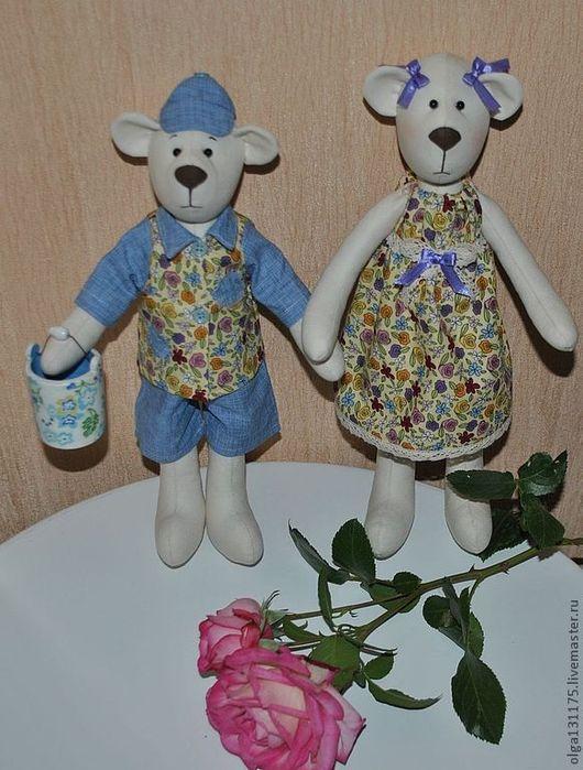 Куклы Тильды ручной работы. Ярмарка Мастеров - ручная работа. Купить медвежата Мишка и Машка. Handmade. Мишка тильда