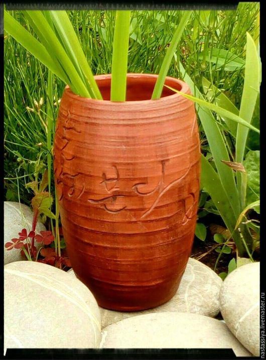 """Вазы ручной работы. Ярмарка Мастеров - ручная работа. Купить Ваза """"Хангыль"""". Handmade. Коричневый, керамическая ваза, для дома"""