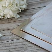 Материалы для творчества handmade. Livemaster - original item Nickel silver sheet. Handmade.