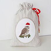 Подарки к праздникам handmade. Livemaster - original item pouch with embroidery