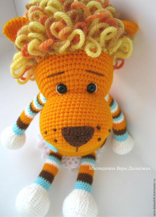 Игрушки животные, ручной работы. Ярмарка Мастеров - ручная работа. Купить Лев. Handmade. Рыжий, подарок девочке, рыжик