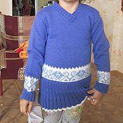 Работы для детей, ручной работы. Ярмарка Мастеров - ручная работа Вязаный свитер для девочки. Handmade.