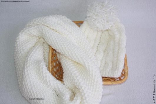 Sets of Items handmade. Livemaster - handmade. Buy kit 'Winter' Snood cap.White, Cole, snood women's