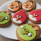 Сувениры и подарки handmade. Livemaster - original item Gingerbread ginger Angri berds .. Handmade.