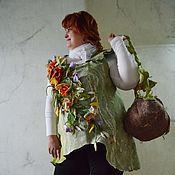 "Одежда ручной работы. Ярмарка Мастеров - ручная работа Туника ""Первоцвет"" валяная. Handmade."