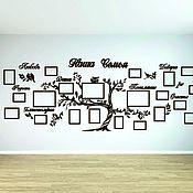 Фоторамки ручной работы. Ярмарка Мастеров - ручная работа МЕГА Семейное дерево с фоторамками. Handmade.