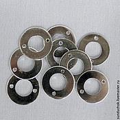 Материалы для творчества ручной работы. Ярмарка Мастеров - ручная работа Коннектор круглый серебряный большой и поменьше. Handmade.