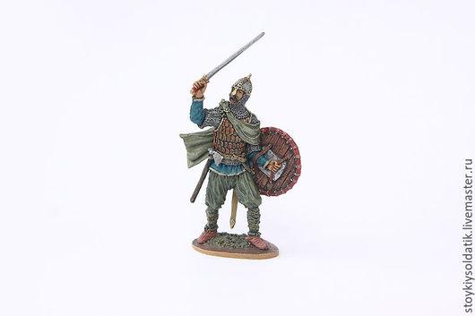 Миниатюра ручной работы. Ярмарка Мастеров - ручная работа. Купить Древнерусский воин, 10 век. Handmade. Комбинированный, оловянный, солдат