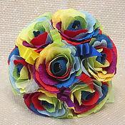 Цветы и флористика ручной работы. Ярмарка Мастеров - ручная работа Радужные розы. Букет из конфет. Handmade.