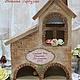 """Кухня ручной работы. Ярмарка Мастеров - ручная работа. Купить Чайный домик """"Родовое гнездо"""". Handmade. Бежевый, кирпич, фанера"""