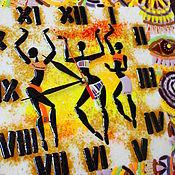 Для дома и интерьера ручной работы. Ярмарка Мастеров - ручная работа часы из стекла, фьюзинг  Африка - любовь моя. Handmade.