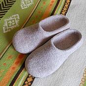 """Обувь ручной работы. Ярмарка Мастеров - ручная работа Тапочки """"Бежевые"""". Handmade."""