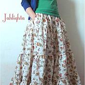 "Одежда handmade. Livemaster - original item Skirt ""Morning Flowers"". Handmade."
