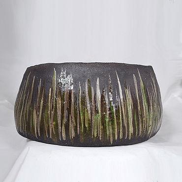 Flowers and floristry handmade. Livemaster - original item Flower pot of Peat in the lake. Handmade.