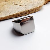 Украшения handmade. Livemaster - original item Steel ring signet size 18. Handmade.