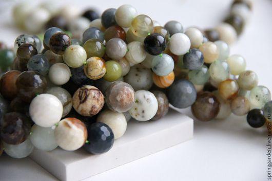 Для украшений ручной работы. Ярмарка Мастеров - ручная работа. Купить Нефрит бусины ТАВОЛГА , природный камень 10мм и 14 мм. Handmade.