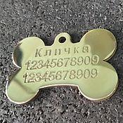 Аксессуары для питомцев ручной работы. Ярмарка Мастеров - ручная работа Адресник для собаки. Handmade.