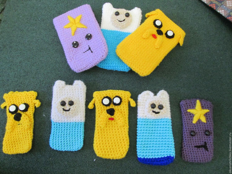 вязаные вручную чехлы Adventure Time купить в интернет магазине на