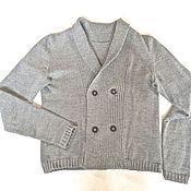 Одежда handmade. Livemaster - original item knitted cardigan for men double-breasted. Handmade.