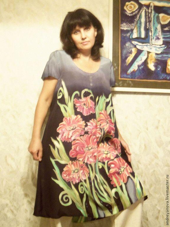 Платье летнее батик