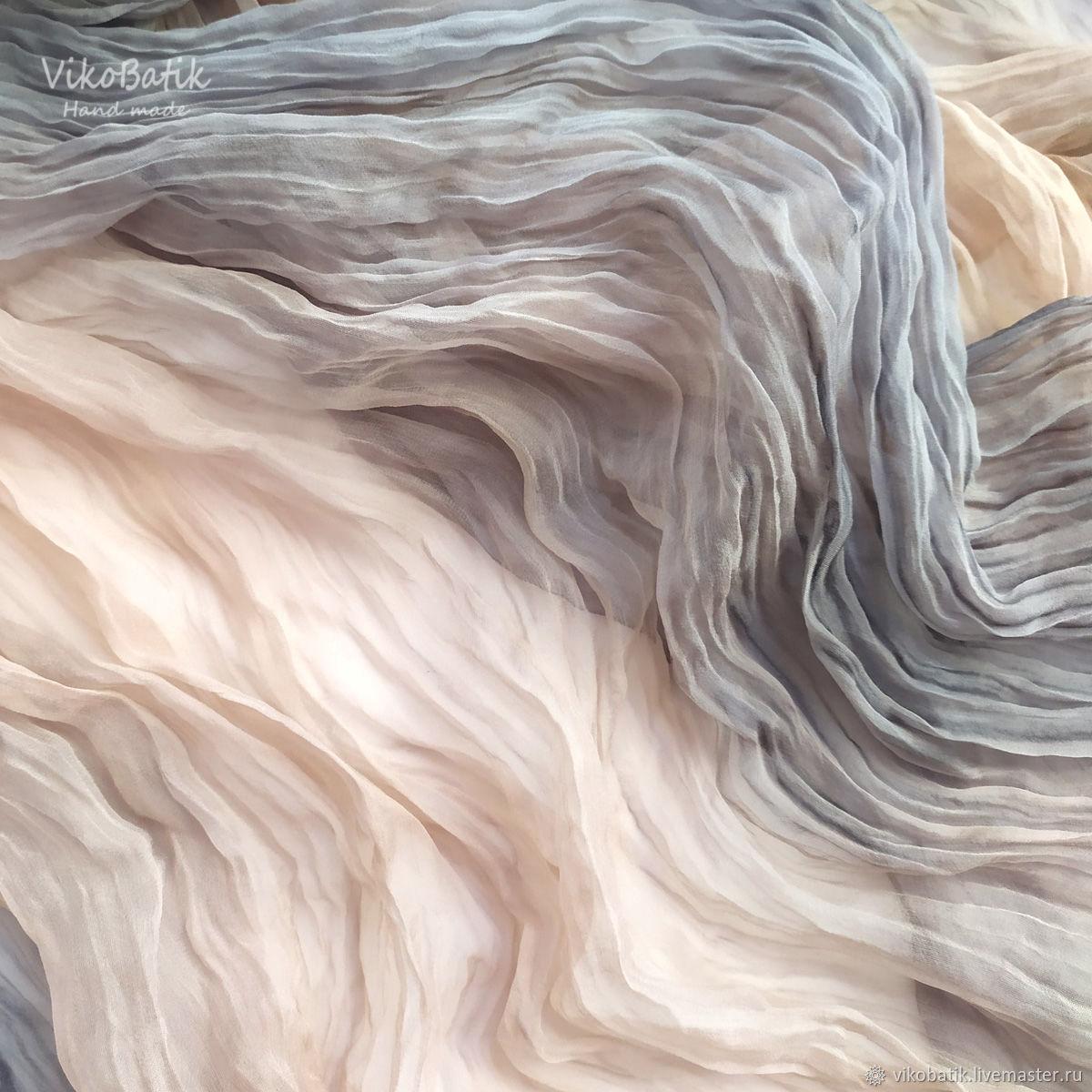 Powdery chic. Silk scarf stole batik. 100% silk, Wraps, Kislovodsk,  Фото №1