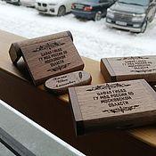 Сувениры и подарки handmade. Livemaster - original item Wooden flash drive with engraving (memory card), souvenir. Handmade.
