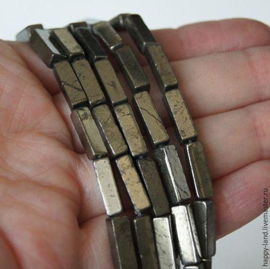 Для украшений ручной работы. Ярмарка Мастеров - ручная работа. Купить Пирит прямоугольники 13х4х4 мм. Handmade. Серебряный